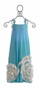 Pixie Girl Turquoise Full Bloom Maxi Dress