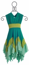 Pixie Girl Windy Day Dress Turquoise (Size 2T)