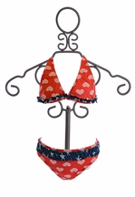 Planet Sea Girls Swimsuit Bikini Stars and Hearts (Size 14)