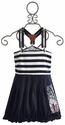 Pom Pom Girls Navy Stripe Sailor Dress