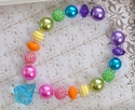Posh and Prissy Fun Fetti Little Girls Necklace in Large Beads