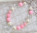 Posh and Prissy Girls Pink Birthday Necklace