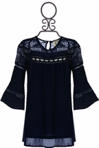 PPLA Boho Tunic in Navy