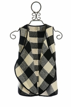 PPLA Couture Vest for Tweens in Black and White