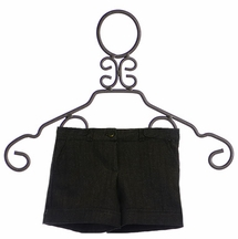 PPLA Denim Shorts for Tweens in Black