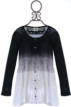 PPLA Dip Dye Tunic in Grey
