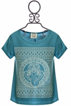 PPLA Elephant Tee in Teal