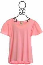 PPLA Flowy Tee for Girls in Coral (Size LG14/16)