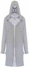 PPLA Girls Duster Sweater in Gray