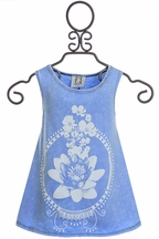 PPLA Lotus Tank Top in Light Blue