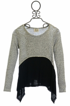PPLA Sweater for Tweens in Black and Gray