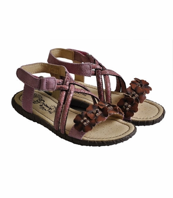 Primigi Girls Sandals Rose with Snake Skin Pattern