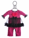 Purrfect by Haute Baby Infant Pink Tutu Romper
