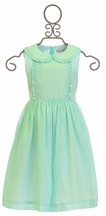 Rachel Riley Glitter Dot Frill Dress in Mint (4,5,6,7)