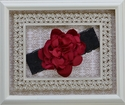 Red Handmade Rose Headband for Girls