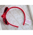Reema Girls Headband with Red Sequin Bow