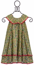 Rockin Baby Floral Dress for Girls in Green