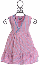Rockin Baby Girls Wrap Dress in Red