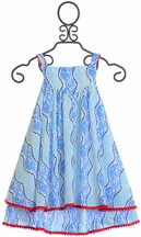 Rockin Baby Leaf Print Dress in Blue