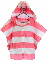 Rockin Baby Striped Packaway Poncho (Size 3-6)