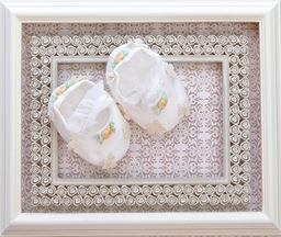 Romantique Bebe Baby Crib Shoes in Ivory (Size 3/6Mos)