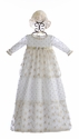 Romantique Bebe Baby Girls Gown in Ivory Lace