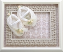 Romantique BeBe Boutique Baby Booties Ivory Lace