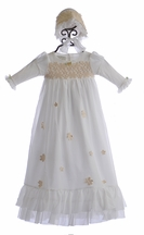 Romantique Bebe Christening Baby Gown in Ivory