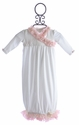 Romantique BeBe Ivory Newborn Baby Gown