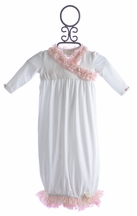 Romantique BeBe Ivory Newborn Baby Gown (0-3Mos & 3-6Mos)