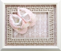 Romantique BeBe Pink Baby Booties with Lace
