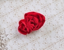 Rose Red Girls Flower Hair Clip Handmade