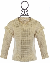 Rylee and Cru Fringe Knit Sweater
