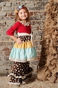 Sado Christmas Ruffle Dress in Hodge Podge