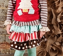 Sado Coutue Ruffle Skirt for Girls