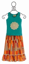 Sado Doily Tank with Maxi Skirt for Girls