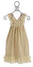 Sado Girls Maxi Dress in Natural Brown