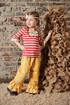 Sado Girls Ruffle Pants in Yellow
