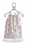 Sado Pillowcase Dress for Girls in Floral and Lace