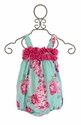 Sage and Lilly Baby Girl Romper with Flowers (9 Mos & 12 Mos)