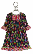 Sage and Lilly Girls Christmas Tree Party Dress
