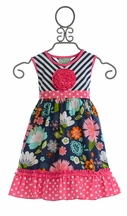 Sage and Lilly Girls Summer Dress Seaside Breeze (3Mos,6Mos,4,8,10)