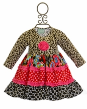 Sage and Lilly Little Girls Leopard Dress (Size 24Mos)