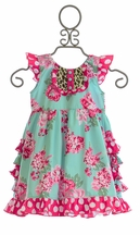 Sage and Lilly Ruffle Dress for Little Girls (9Mos,12Mos,24Mos)