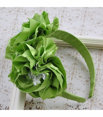 Samantha Conner Lime Rosette Headband for Girls