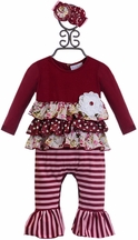 Serendipity Baby Romper with Ruffles and Flowers (3Mos,18Mos,24Mos)