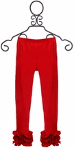 Serendipity Cotton Leggings for Girls in Red