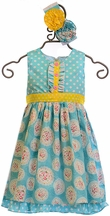 Serendipity Dot and Floral Dress with Shorties