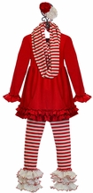 Serendipity Girls Designer Tunic Set in Red