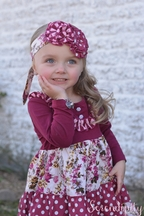 Serendipity Girls Flower Dress Set in Purple